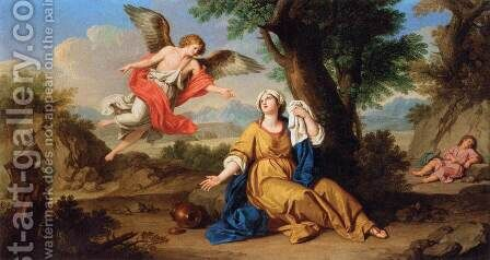 Hagar and the Angel by Giuseppe Bottani - Reproduction Oil Painting