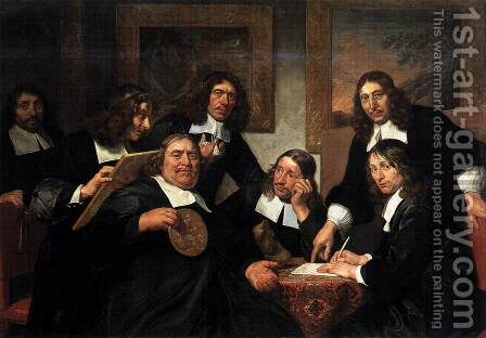 The Governors of the Guild of St Luke, Haarlem by Jan De Bray - Reproduction Oil Painting