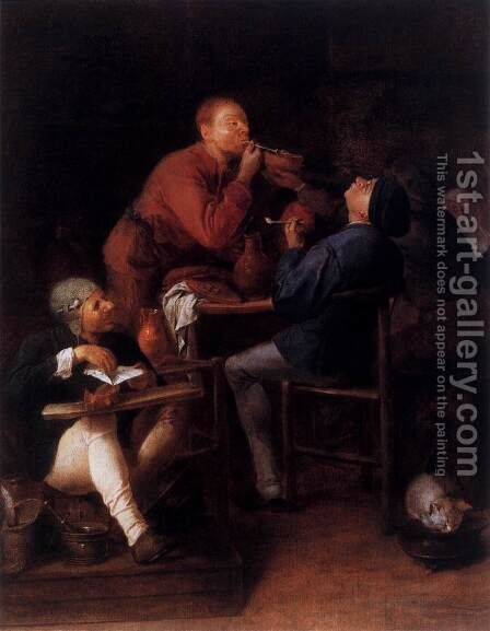 Peasants of Moerdyck by Adriaen Brouwer - Reproduction Oil Painting