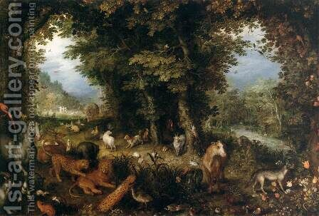 Earth (The Earthly Paradise) by Jan The Elder Brueghel - Reproduction Oil Painting