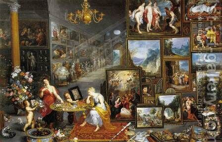 Allegory of Sight and Smell by Jan The Elder Brueghel - Reproduction Oil Painting