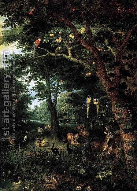 Paradise by Jan, the Younger Brueghel - Reproduction Oil Painting