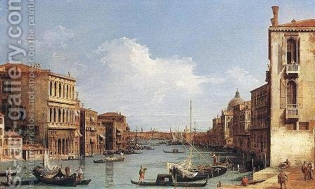 The Grand Canal from Campo San Vio towards the Bacino by (Giovanni Antonio Canal) Canaletto - Reproduction Oil Painting