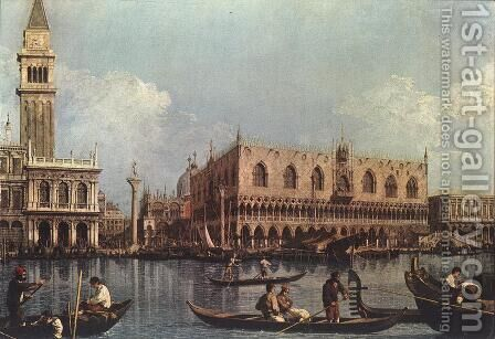 View of the Bacino di San Marco (St Mark's Basin) by (Giovanni Antonio Canal) Canaletto - Reproduction Oil Painting