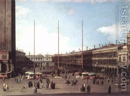 Piazza San Marco, Looking toward San Geminiano by (Giovanni Antonio Canal) Canaletto - Reproduction Oil Painting