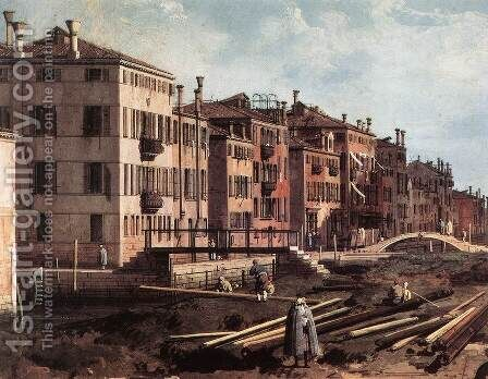 View of San Giuseppe di Castello (detail) 2 by (Giovanni Antonio Canal) Canaletto - Reproduction Oil Painting