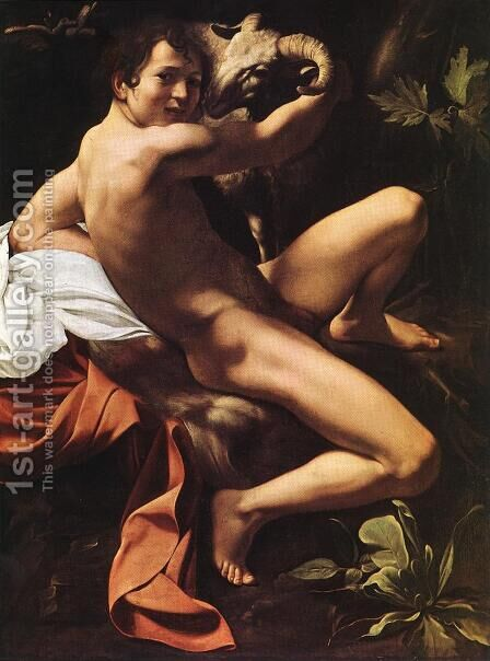 St. John the Baptist (Youth with Ram) 2 by Caravaggio - Reproduction Oil Painting