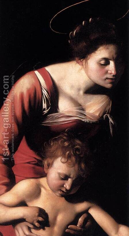 Madonna Palafrenieri (detail) by Caravaggio - Reproduction Oil Painting