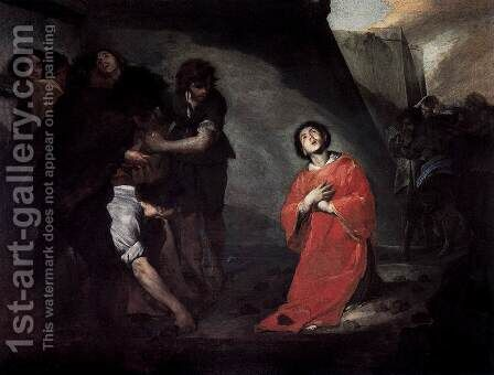 Martyrdom of St Stephen by Bernardo Cavallino - Reproduction Oil Painting