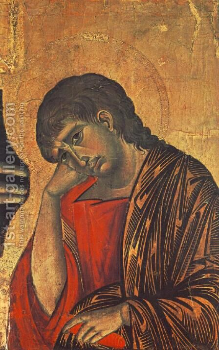 Crucifix (detail) 2 by (Cenni Di Peppi) Cimabue - Reproduction Oil Painting