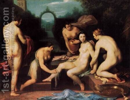 Bathsheba by Cornelis Cornelisz Van Haarlem - Reproduction Oil Painting
