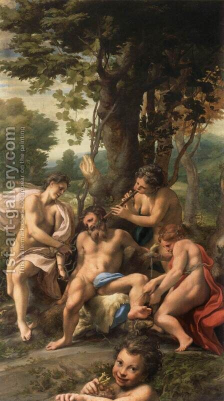 Allegory of Vices by Correggio (Antonio Allegri) - Reproduction Oil Painting