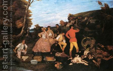 The Hunt Breakfast by Gustave Courbet - Reproduction Oil Painting
