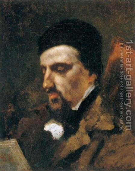 Portrait of Urbain Cuenot by Gustave Courbet - Reproduction Oil Painting