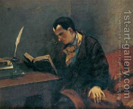 Portrait of Baudelaire by Gustave Courbet - Reproduction Oil Painting
