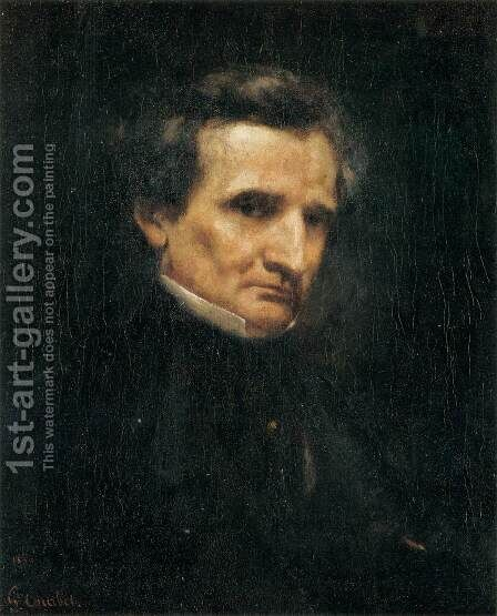 Portrait of Hector Berlioz by Gustave Courbet - Reproduction Oil Painting