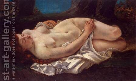 Reclining Woman by Gustave Courbet - Reproduction Oil Painting