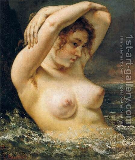 The Woman in the Waves 2 by Gustave Courbet - Reproduction Oil Painting