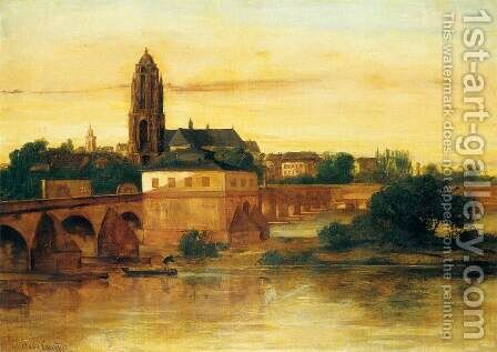 View of Frankfurt am Main by Gustave Courbet - Reproduction Oil Painting