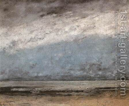 Beach near Trouville by Gustave Courbet - Reproduction Oil Painting
