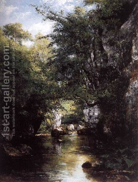 The Stream at Breme by Gustave Courbet - Reproduction Oil Painting