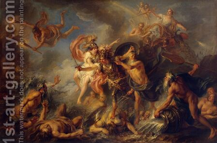 Fury of Achilles by Charles-Antoine Coypel - Reproduction Oil Painting