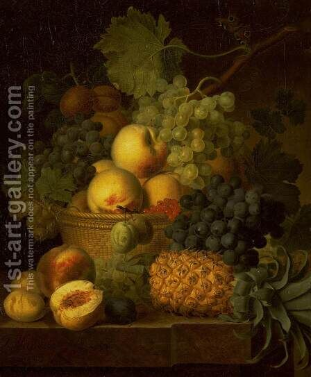 Basket of Fruit by Jan Frans Van Dael - Reproduction Oil Painting