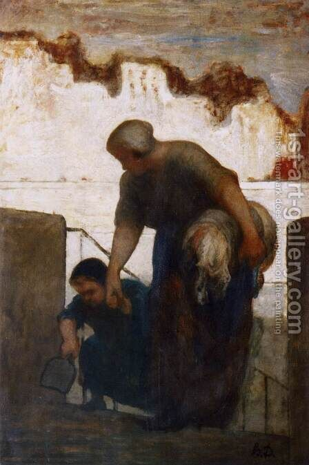 The Washerwoman 3 by Honoré Daumier - Reproduction Oil Painting