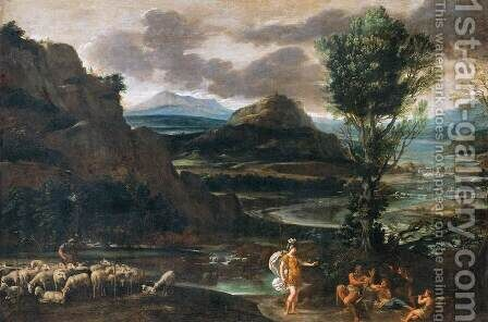 Erminia among the Shepherds by Domenichino (Domenico Zampieri) - Reproduction Oil Painting