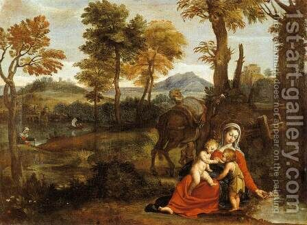 The Rest on the Flight into Egypt by Domenichino (Domenico Zampieri) - Reproduction Oil Painting