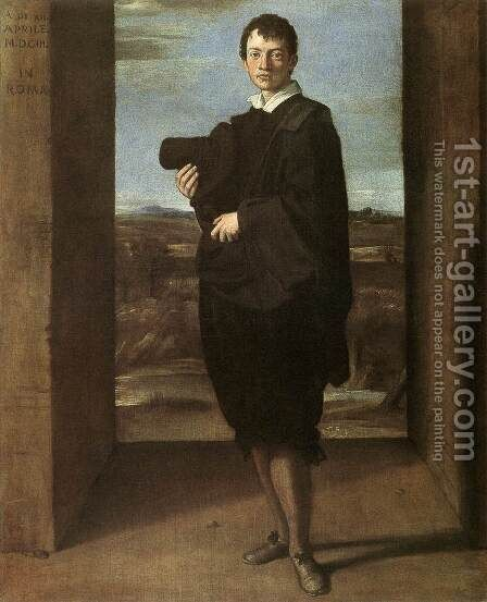 Portrait of a Young Man by Domenichino (Domenico Zampieri) - Reproduction Oil Painting