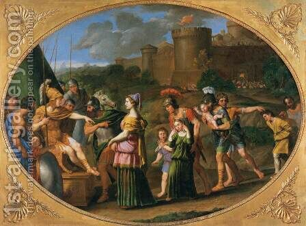 Timoclea Captive Brought before Alexander by Domenichino (Domenico Zampieri) - Reproduction Oil Painting
