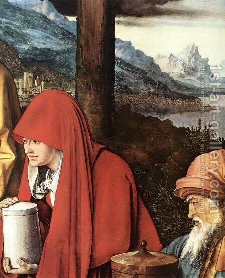 Lamentation for Christ (detail) 2 by Albrecht Durer - Reproduction Oil Painting