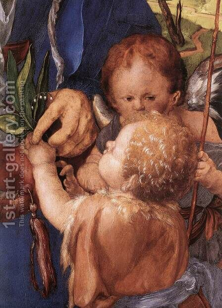 Madonna with the Siskin (detail) by Albrecht Durer - Reproduction Oil Painting