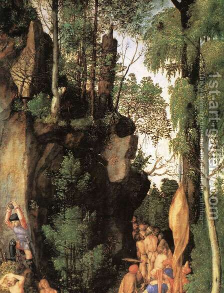 The Martyrdom of the Ten Thousand (detail) 2 by Albrecht Durer - Reproduction Oil Painting