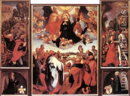 Heller Altar (copy) by Albrecht Durer - Reproduction Oil Painting