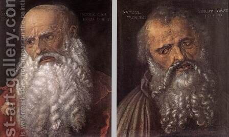 The Apostles Philip and James 2 by Albrecht Durer - Reproduction Oil Painting