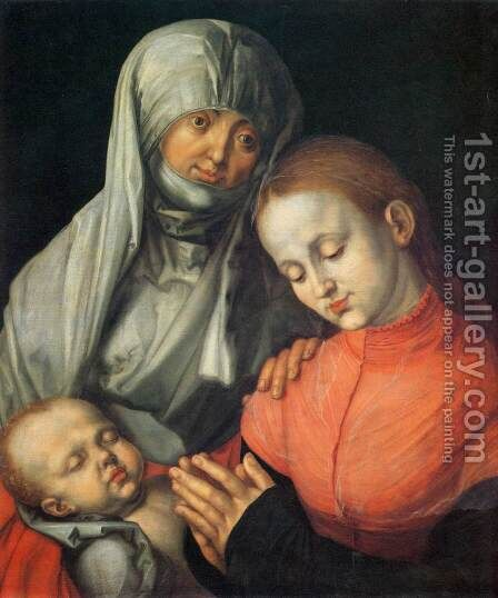St Anne with the Virgin and Child by Albrecht Durer - Reproduction Oil Painting