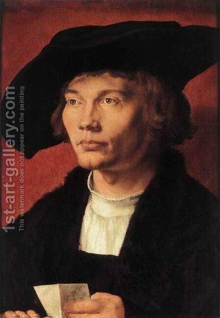 Portrait of Bernhard von Reesen 2 by Albrecht Durer - Reproduction Oil Painting