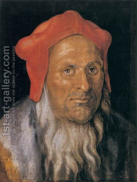 Portrait of a Man 3 by Albrecht Durer - Reproduction Oil Painting
