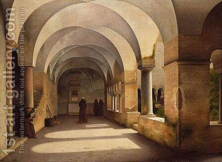 The Cloisters, San Lorenzo fuori le mura by Christoffer Wilhelm Eckersberg - Reproduction Oil Painting
