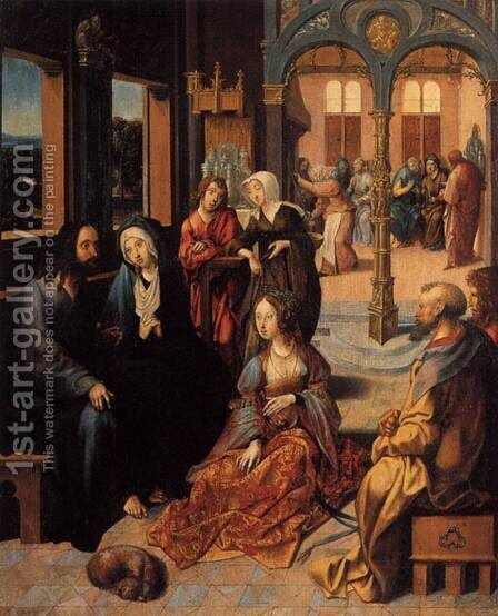 Christ in the House of Martha and Mary by Cornelius Engebrechtsz - Reproduction Oil Painting