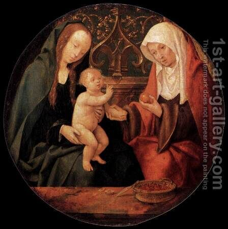 Virgin and Child with St Anne by Cornelius Engebrechtsz - Reproduction Oil Painting