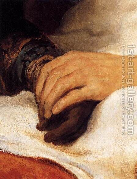 Isaac Blessing Jacob (detail) by Govert Teunisz. Flinck - Reproduction Oil Painting