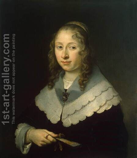 Portrait of a Woman by Govert Teunisz. Flinck - Reproduction Oil Painting