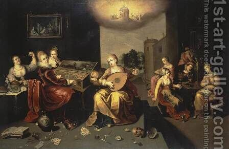 Parable of the Wise and Foolish Virgins by Hieronymus II Francken - Reproduction Oil Painting