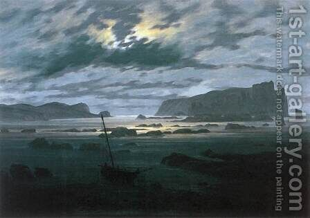 The North Sea in Moonlight by Caspar David Friedrich - Reproduction Oil Painting