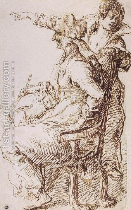 Two Witches with a Cat by Jacob de II Gheyn - Reproduction Oil Painting