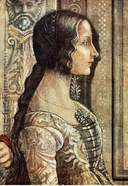 Birth of Mary (detail) 3 by Domenico Ghirlandaio - Reproduction Oil Painting