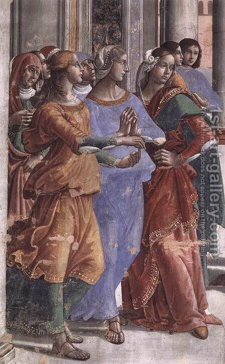 Presentation of the Virgin at the Temple (detail) by Domenico Ghirlandaio - Reproduction Oil Painting